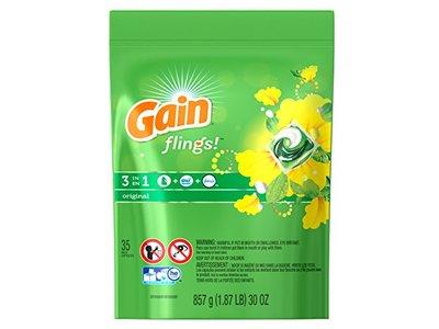 Gain Flings Original Laundry Detergent Pacs, 35 Count