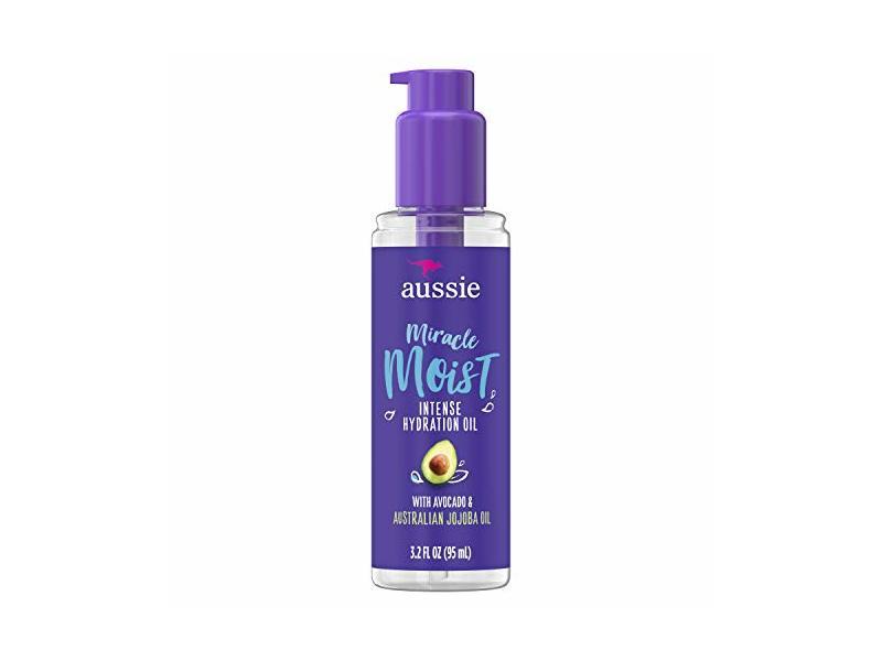 Aussie Miracle Moist Intense Hydration Oil, Avocado & Jojoba Oil, 3.2 fl oz