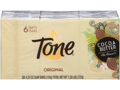 Tone Bar Soap, Cocoa Butter, 4.25 oz (Pack of 6)