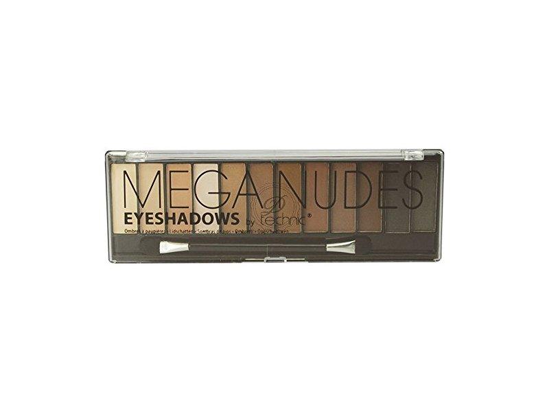 Technic Mega Mattes Eyeshadow Palette, Nudes, 12 x 1.2 g