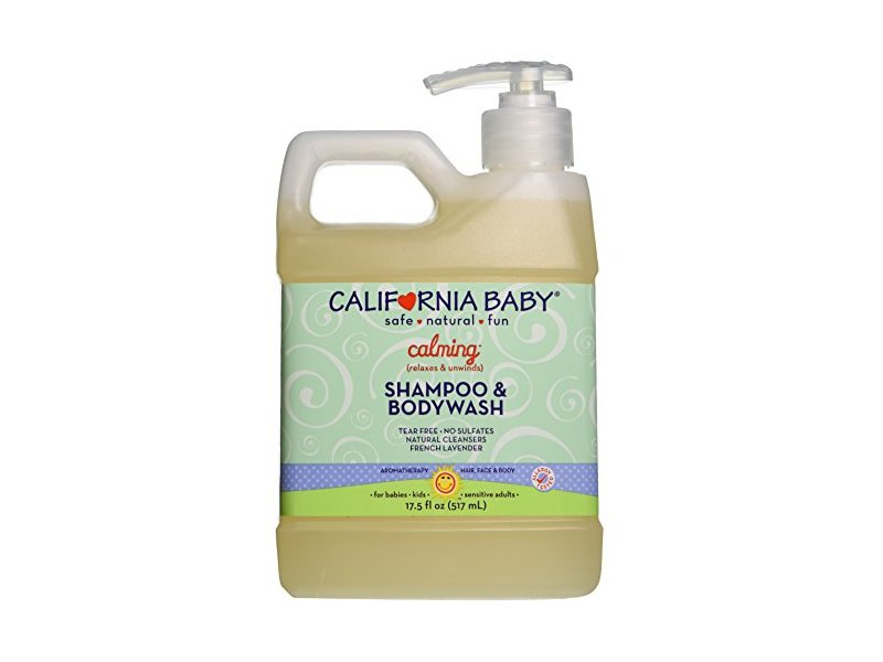 California Baby Calming Shampoo and Body Wash, French Lavender, 17.5 Ounce
