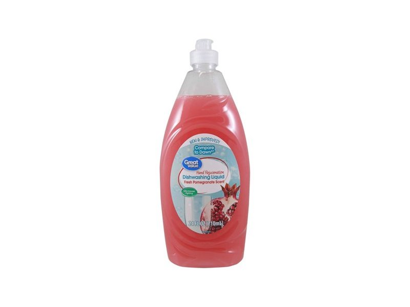 Great Value Hand Rejuvenation Dishwashing Liquid, Pomegranate, 24 fl oz
