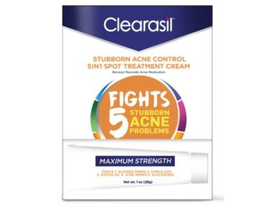 Clearasil 5-In-1 Spot Treatment Cream, Maximum Strength, 1 oz