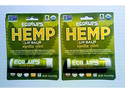 Eco Lips Hemp Lip Balm Vanilla Mint Flavor, .15 oz