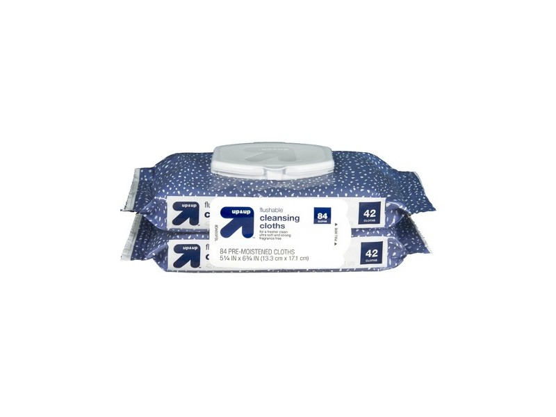 Up & Up Flushable Cleansing Cloths, 84ct