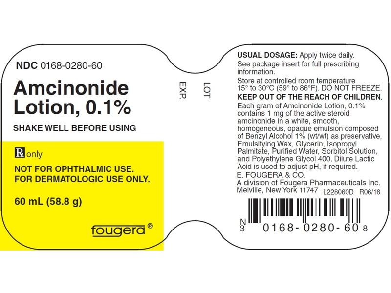 Amcinonide Lotion 0.1% (RX) 30 Grams, Fougera