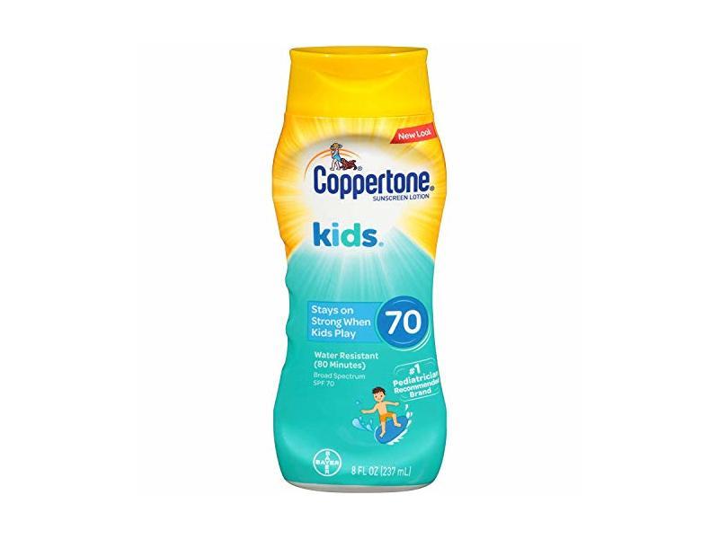 Coppertone KIDS Sunscreen Lotion Broad Spectrum SPF 70, 8 fl oz