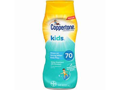 Coppertone KIDS Sunscreen Lotion Broad Spectrum SPF 70, 8 fl oz