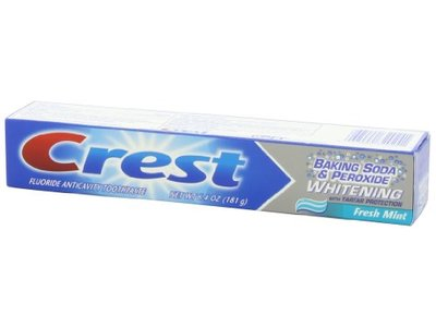 Crest Baking Soda And Peroxide Whitening With Tartar Protection Fresh Mint Flavor Toothpaste, 6.4 Oz - Image 6