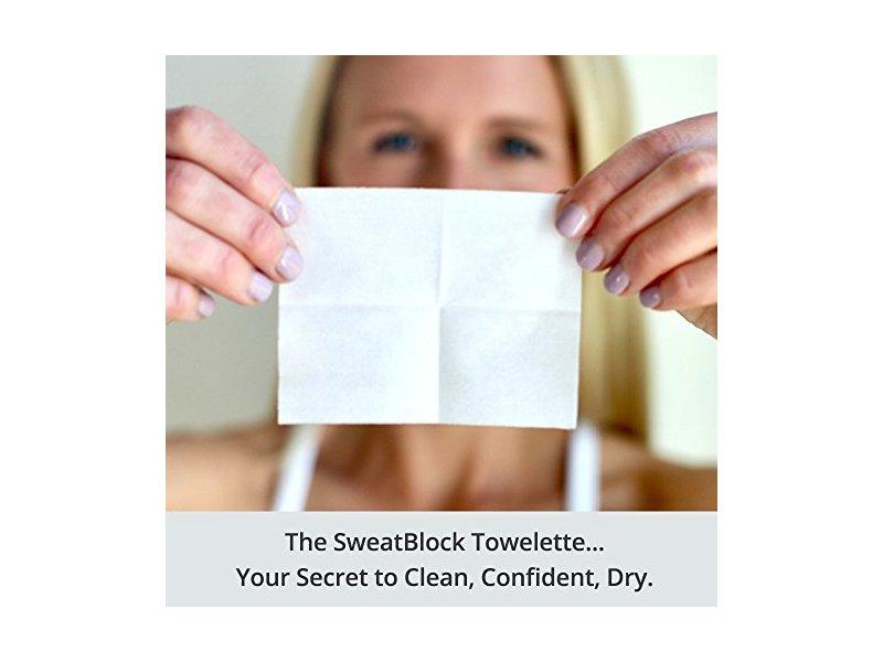 SweatBlock Antiperspirant Clinical Strength Towelettes