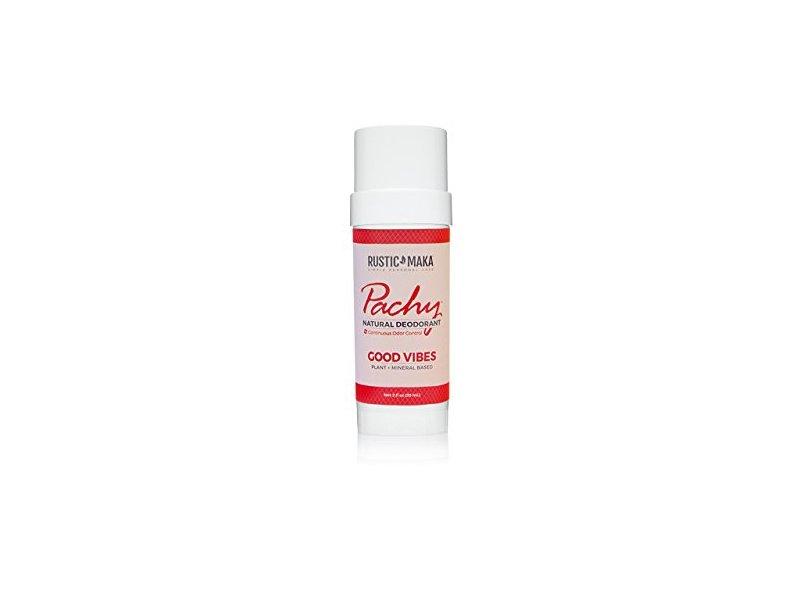Rustic Make Pachy Natural Deodorant, Good Vibes, 2 oz
