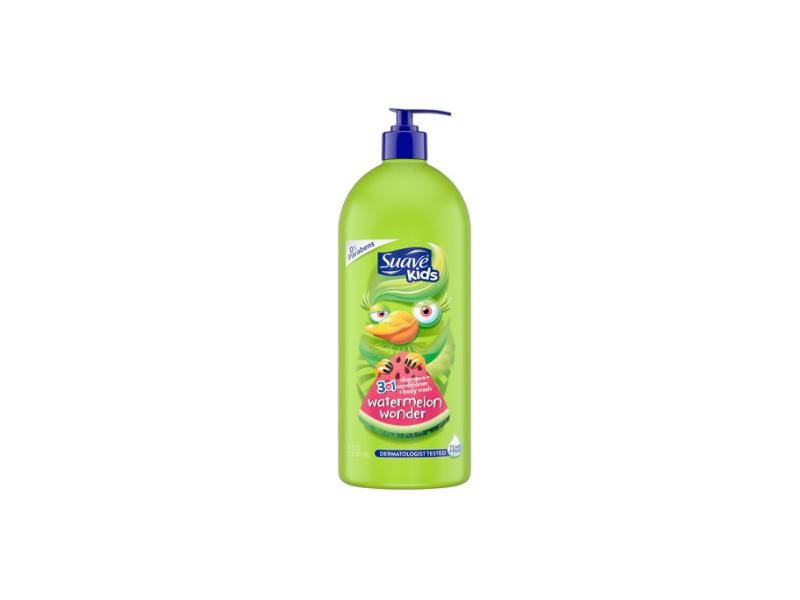 Suave Kids 3 in 1 Shampoo + Conditioner + Body Wash, Watermelon Wonder, 40 fl oz