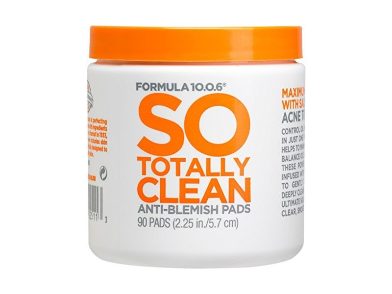 Formula 10.0.6 So Totally Clean Anti-Blemish Pads, 90 ct