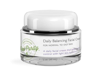 Real Purity Daily Balancing Facial Cream, Normal to Oily Skin, 2 oz