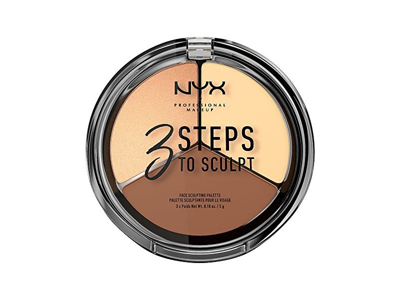 NYX Cosmetics 3 Steps To Sculpt Face Sculpting Palette Light