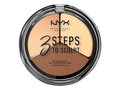 NYX Cosmetics 3 Steps To Sculpt Face Sculpting Palette Light