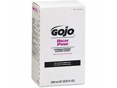 Gojo Rich Pink Antibacterial Lotion Soap, 2000 mL