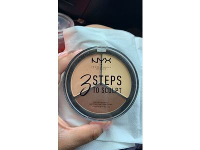 NYX Cosmetics 3 Steps To Sculpt Face Sculpting Palette Light - Image 3