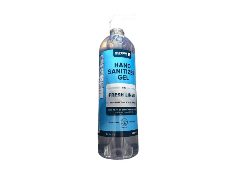 Neptune Hand Sanitizer Gel, Fresh Linen