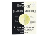 The Creme Shop - 2 in 1 Charcoal & Lemonade Fusion Facial Sheet Mask - 1 Count - Image 2