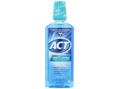 ACT Restoring Mouthwash, Cool Splash Mint, 18-Ounce