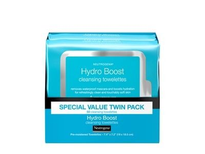 Neutrogena Hydro Boost Facial Cleansing Wipes with Hyaluronic Acid, 25 wipes