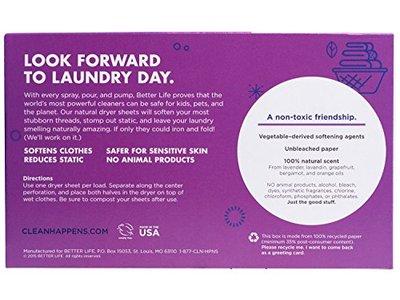 Better Life Dryer Sheets, Lavender Grapefruit, 80 Count, 2422 - Image 3