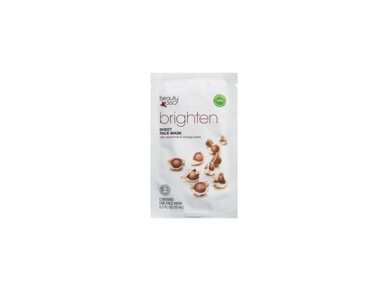 Beauty 360 Brightening Radiance Tissue Facial Mask