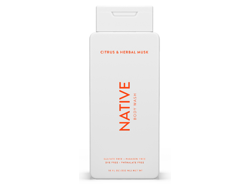 Native Body Wash, Citrus and Herbal Musk, 18 fl oz/532 mL