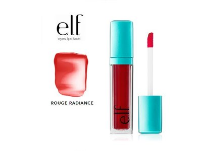 e.l.f. Aqua Beauty Radiant Gel Lip Tint, 57040 Rouge Radiance, 0.20 fl oz