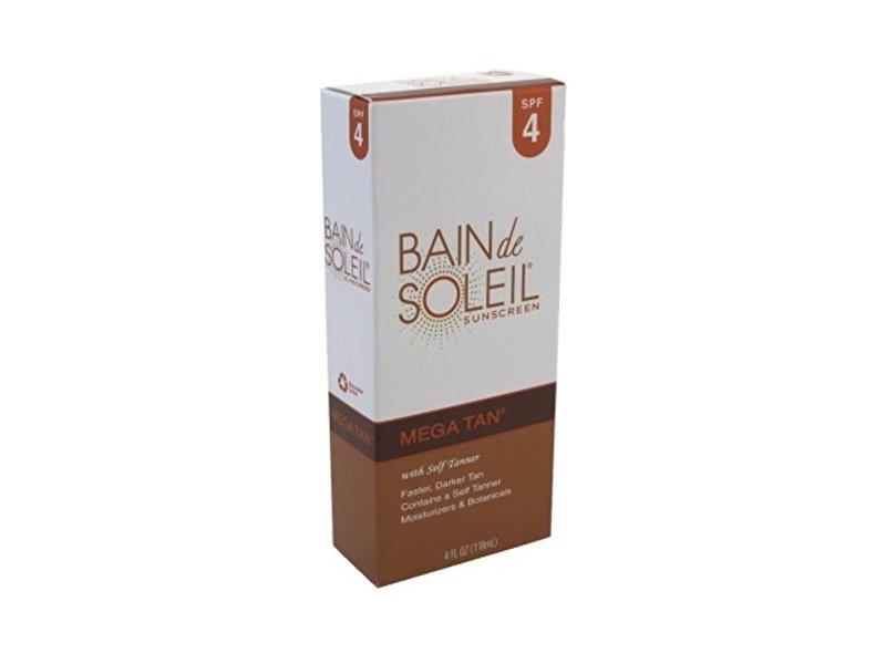 Bain De Soleil Mega Tan With Self Tanner, SPF 4, 4 fl oz