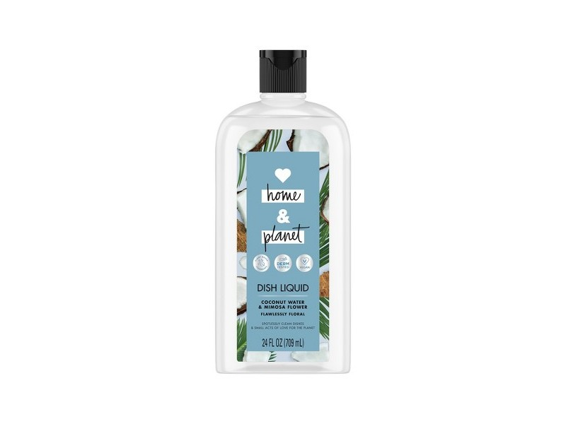 Love Home & Planet Dish Liquid, Coconut Water & Mimosa Flower, 24 fl oz