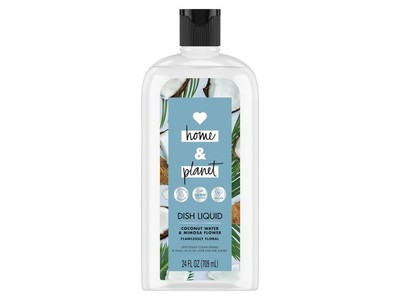 Love Home & Planet Dish Liquid, Coconut Water & Mimosa Flower, 24 fl oz