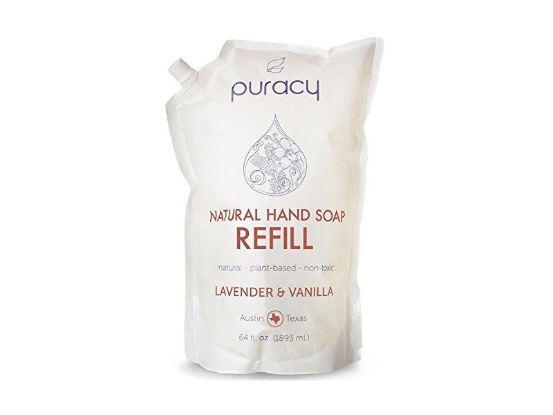 Puracy Natural Liquid Hand Soap 64 Oz Refill Lavender And