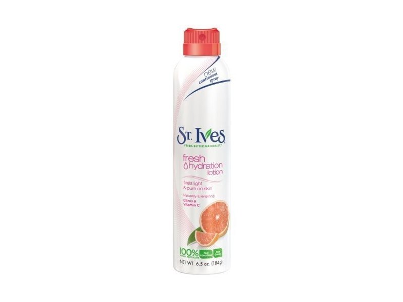 St Ives Hydration Lotion Spray, Naturally Energizing Citrus and Vitamin C 6.5 Ounce (Pack of 2)