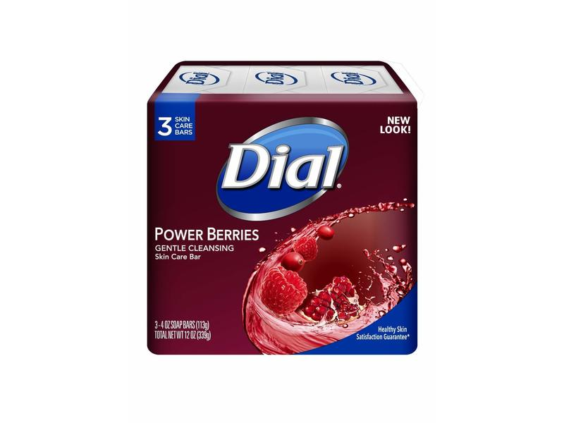 Dial Power Berries Gentle Cleansing Skin Care Bar, 3 Count, 12 oz / 339 g