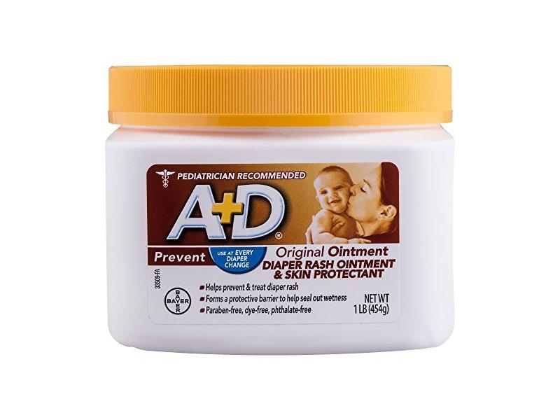 A+D Original Ointment Diaper Rash Ointment & Skin Protectant, 1 lb