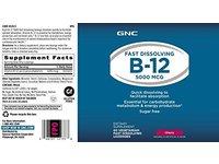 GNC Fast Dissolving B12 Lozenges 5000 mcg Cherry - Image 5