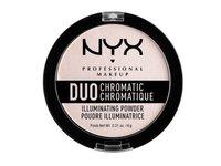 NYX Duo Chromatic Illuminating Powder, Snow Rose 04, 0.21 oz - Image 2