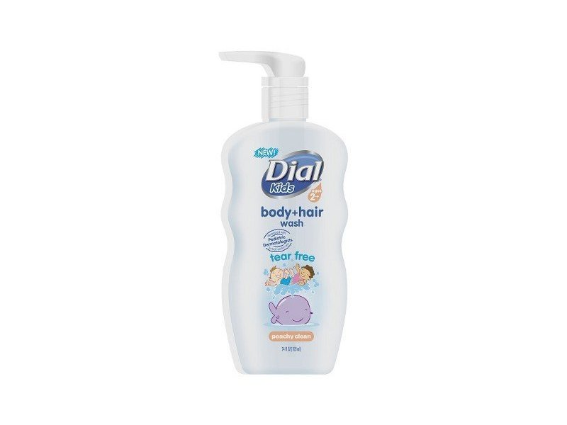 Dial Peach Body and Hair Wash for Kids, 24 oz