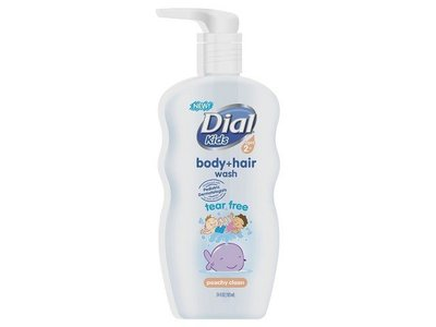 Dial Peach Body and Hair Wash for Kids, 24 oz - Image 1