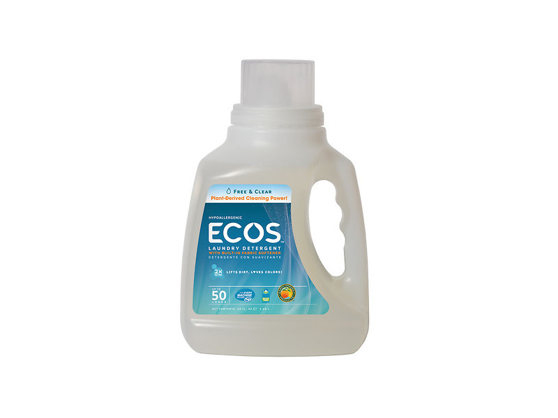 Earth Friendly Ecos Laundry Detergent Free Amp Clear 50 Fl