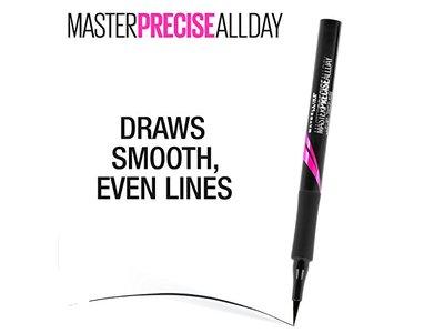 Maybelline Eyestudio Master Precise All Day Liquid Eyeliner Makeup, Forest Brown, 0.034 fl. oz. - Image 6