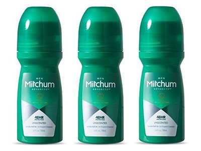 Mitchum Antiperspirant Deodorant For Men Roll-On, Unscented, 3.4 FL OZ (100 mL)