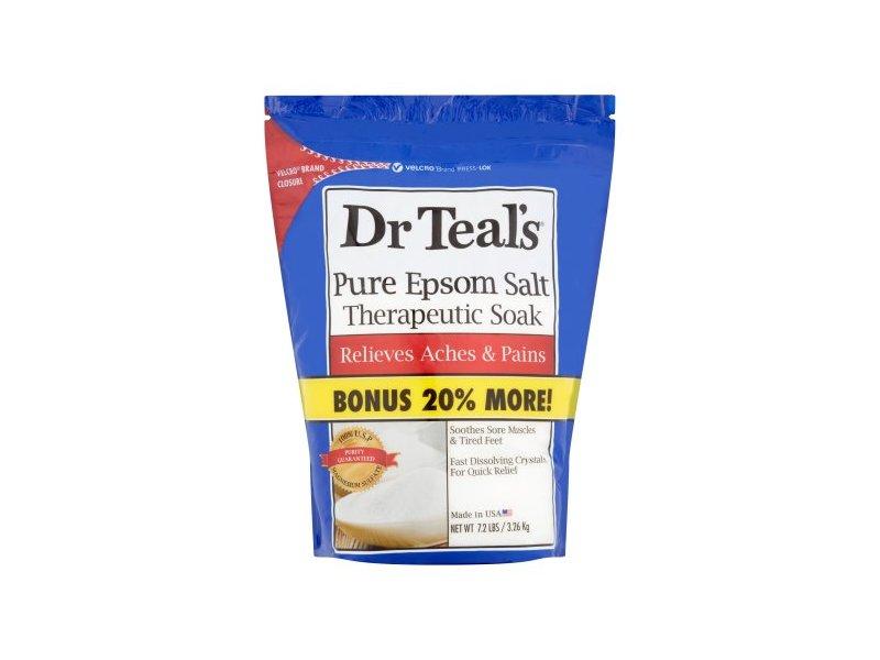 Dr. Teal's Pure Epsom Salt Therapeutic Soak, 7.2 Lbs