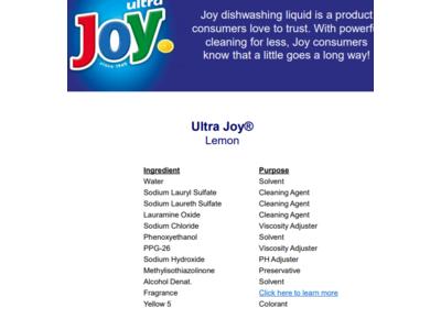 Joy Ultra Dishwashing Liquid, Lemon Scent, 30 fl oz - Image 7