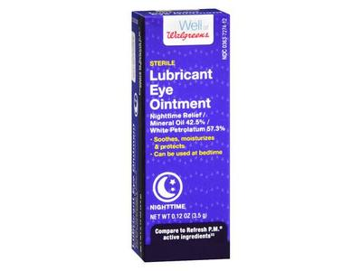 Well at Walgreens Sterile Lubricant Eye Ointment, Nighttime, 0.12 oz