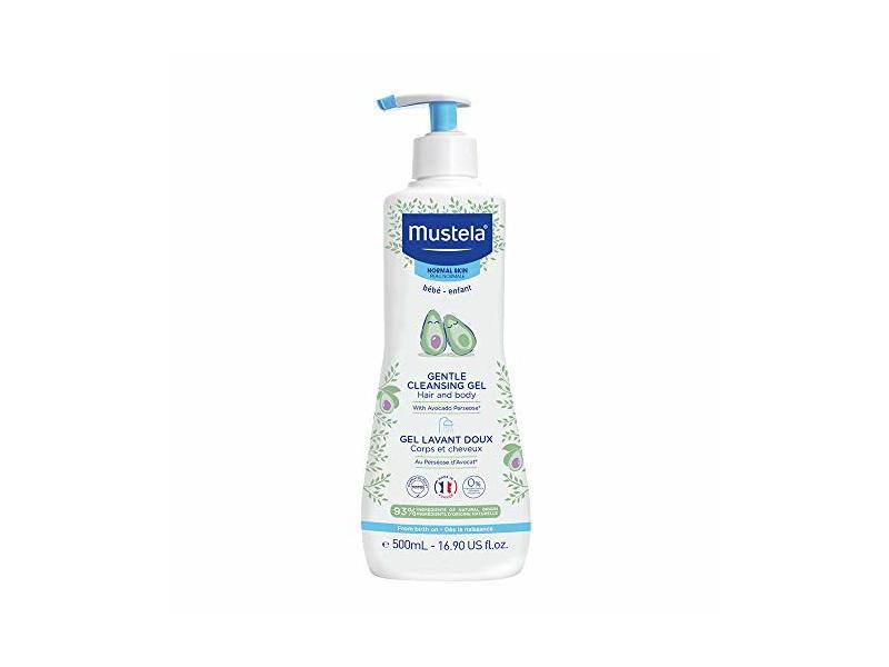 Mustela Gentle Cleansing Gel, Hair And Body, Avocado Perseose, 16.90 fl oz/500 mL
