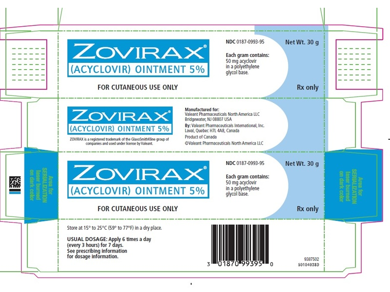 Zovirax Topical Ointment 5% (RX), 30 Grams, Valeant
