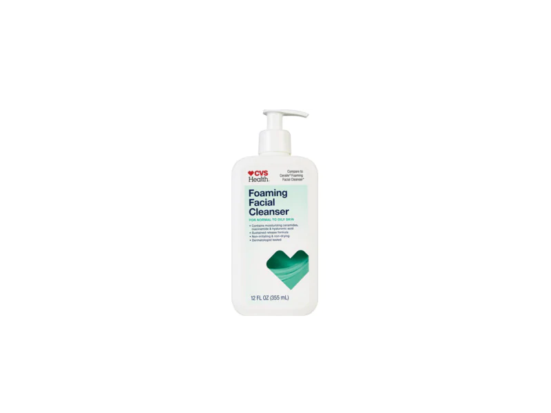 CVS Health Foaming Facial Cleanser for Normal to Oil Skin, 12 fl oz